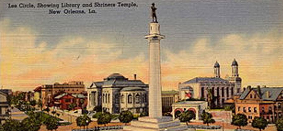 Lee Circle Library Shriners Card